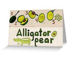 Alligator Pear Greeting Card