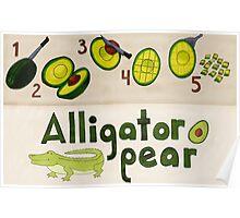Alligator Pear Poster