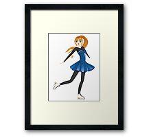 Figure Skater Framed Print