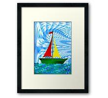 Happy Sailing Framed Print