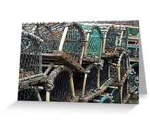 Lobster Pots II Greeting Card