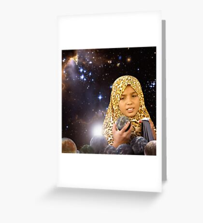 Dear, the World is yours to pick.....Let the Journey Begin Greeting Card