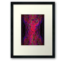 Neon Jellyfish Framed Print