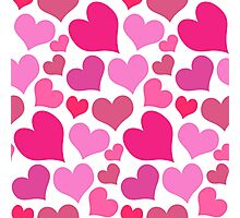Pretty Pink Hearts Bursting with Love Photographic Print