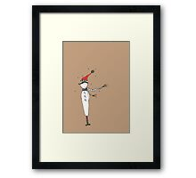 The Boy With A Red Hat Framed Print