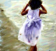 Girl in White Dress  by bev langby