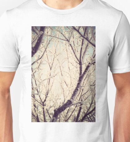 Retro Trees in Hoarfrost Unisex T-Shirt