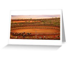 """Australia """"Outback Race Day""""   Original Painting Sold Greeting Card"""