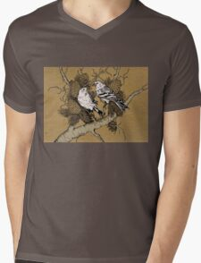 Birds Mens V-Neck T-Shirt