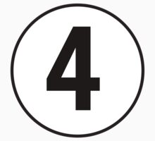 4, Fourth, Number Four, Number 4, Racing, Four, Competition, on Navy Blue Kids Clothes