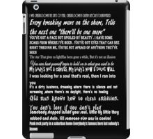 Songs of Innocence Quotes iPad Case/Skin