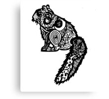 Patterned Squirrel Canvas Print