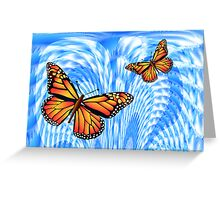 Butterflies in a Blue Sky Greeting Card