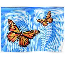 Butterflies in a Blue Sky Poster