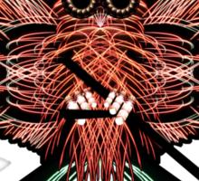 Firework Owl 01 Sticker