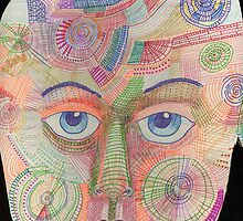 Patterned Face 1 by Penny Hetherington