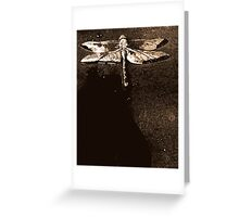 Sepia Dragonfly Greeting Card
