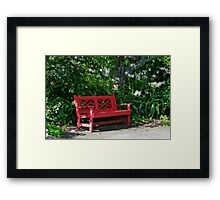 A Red Welcome Framed Print