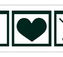 Peace * Love * Hockey Sticker
