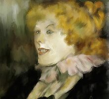 Miss Dolly after Toulouse Lautrec  by bev langby