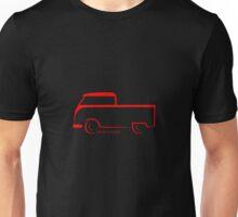 Split VW Bus Shape Crew Cab Unisex T-Shirt