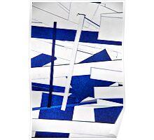 White & Blue Poster