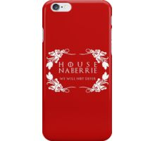 House Naberrie (white text) iPhone Case/Skin