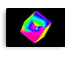 Cube Spectral Canvas Print