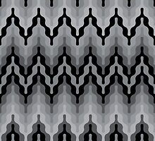 Retro Grey Zigzag by Lisann