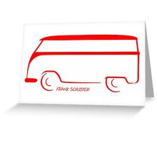 Shape Bus Greeting Card