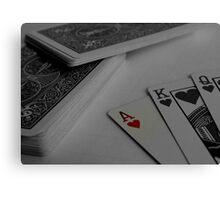 Poker Playing Canvas Print