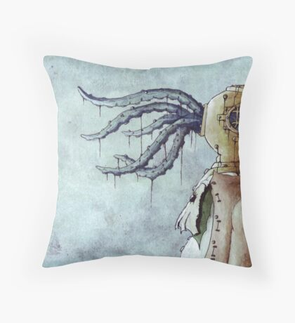 Octopus Man Throw Pillow