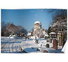 White Blanket Graveyard Poster