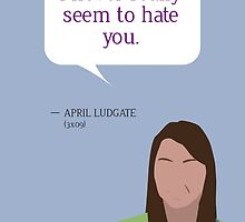 April Ludgate Greeting Card by mmaccioli