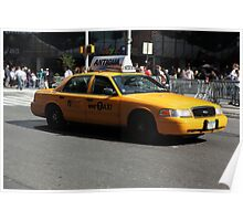New York Yellow Taxi Cab Poster
