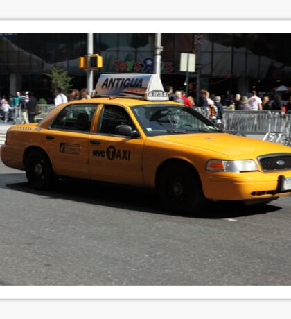 New York Yellow Taxi Cab Sticker