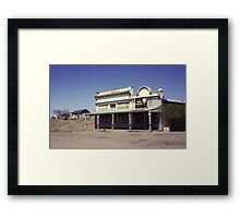 Old Saloon, Lamy, New Mexico, USA. Framed Print