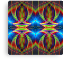 Play of lines, colourful fractal abstract pattern Canvas Print