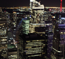 Night Time View of New York City Sticker