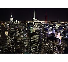 Night Time View of New York City Photographic Print