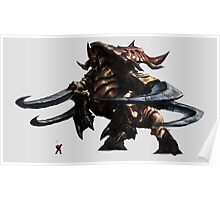 StarCraft - Ultralisk vs Marine Poster