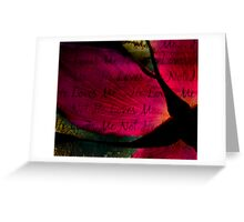 Grungy Love Greeting Card