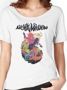 Black Widow Band Shirt Women's Relaxed Fit T-Shirt