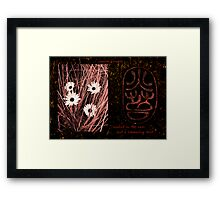 Earth Flowers Framed Print