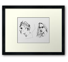 Girl & Boy Framed Print
