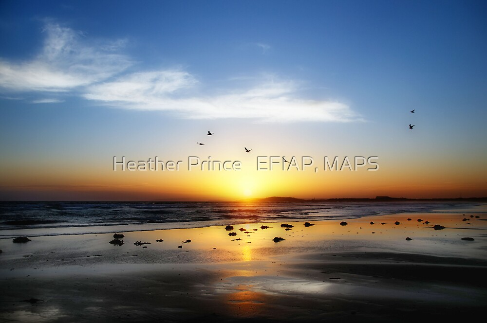 13th Beach Sunset - Orton Effect by Heather Prince