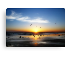 13th Beach Sunset - Orton Effect Canvas Print