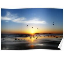 13th Beach Sunset - Orton Effect Poster