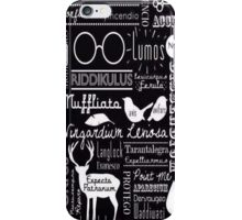 Harry Potter Spells Collage iPhone Case/Skin
