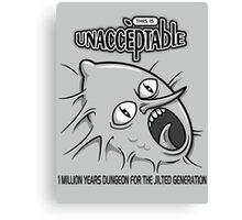 Unacceptable- Adventure Time t-shirt design Canvas Print